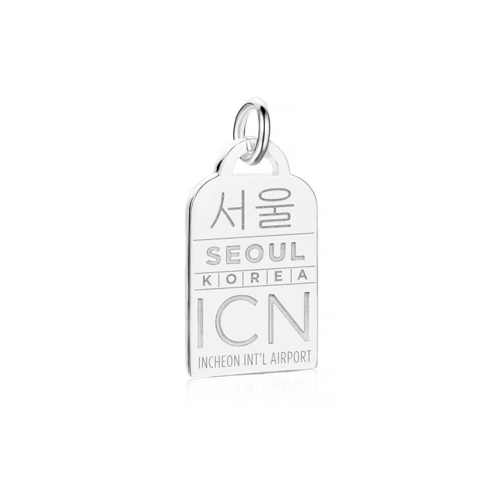 Silver Asia Charm, ICN Seoul Luggage Tag - JET SET CANDY
