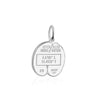 Sterling Silver Travel Charm, Seychelles Passport Stamp - JET SET CANDY