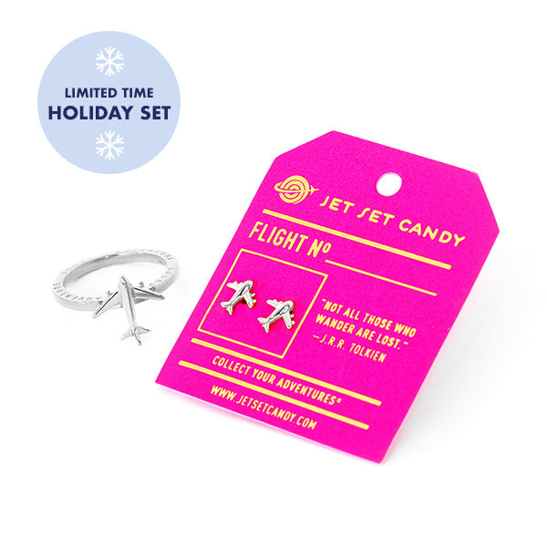 Sterling Silver Airplane Mode Holiday Set