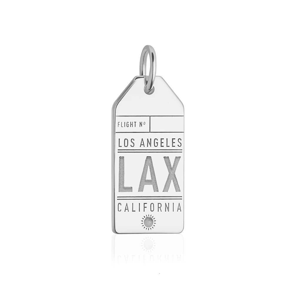 Silver Los Angeles LAX Charm, Luggage Tag - JET SET CANDY