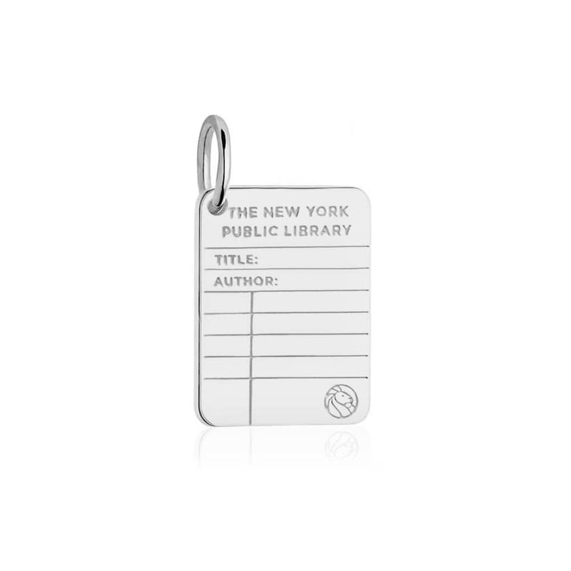 Sterling Silver New York Public Library Card