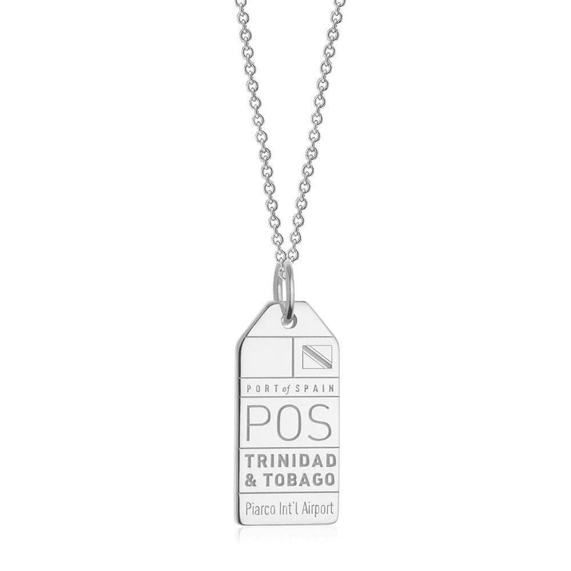 Silver Travel Charm, POS Trinidad and Tobago Luggage Tag - JET SET CANDY