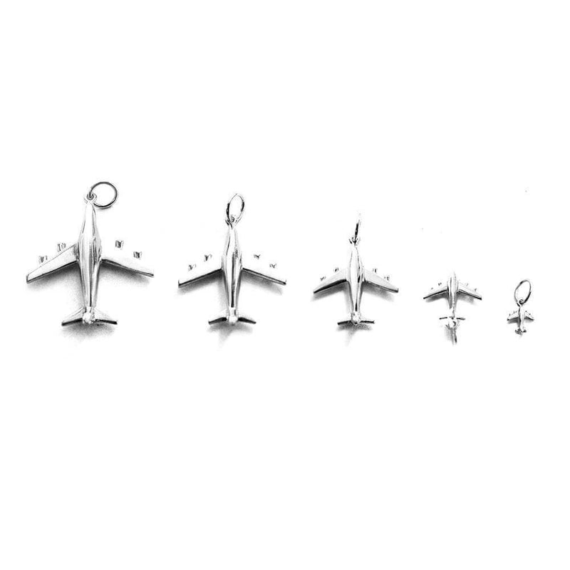 Silver Airplane Charm, Medium - JET SET CANDY