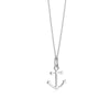 Sterling Silver Mini Anchor Charm Necklace (SHIPS JUNE) - JET SET CANDY