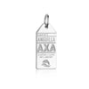 Silver Caribbean Charm, AXA Anguilla Luggage Tag (SHIPS JUNE) - JET SET CANDY