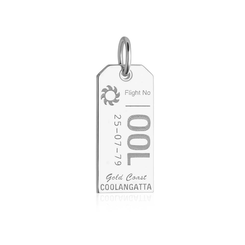 Silver Australia Charm, Gold Coast OOL Luggage Tag - JET SET CANDY