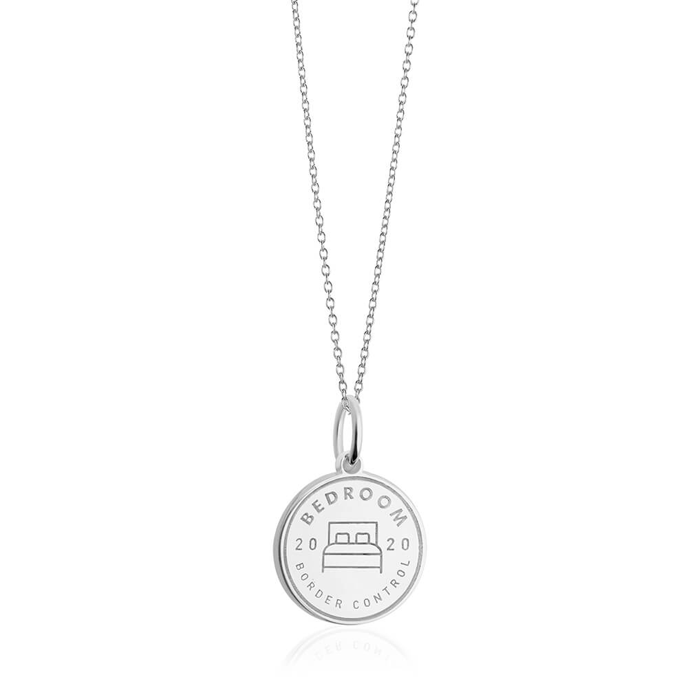 PRE ORDER: Sterling Silver Bedroom Passport Stamp Charm (SHIPS LATE FEB.)