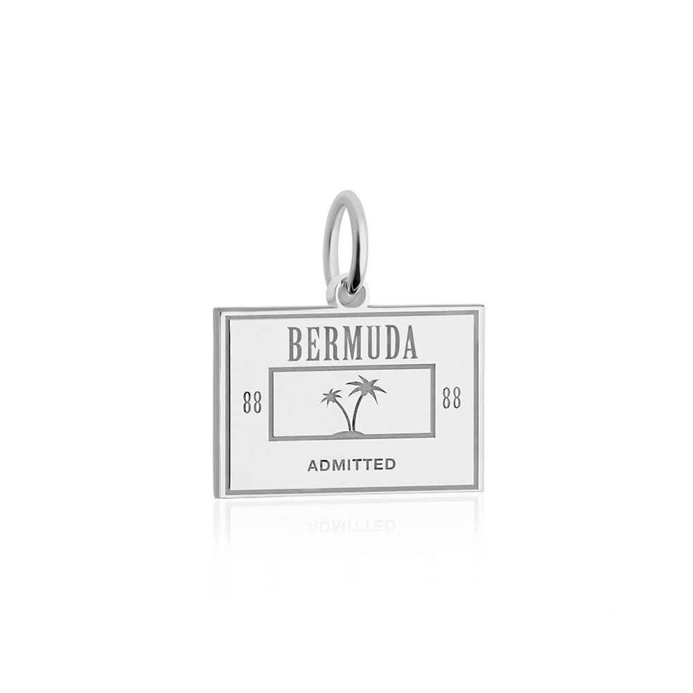 Sterling Silver Bermuda Passport Stamp Charm