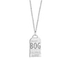 Silver Colombia Charm, BOG Bogota Luggage Tag - JET SET CANDY