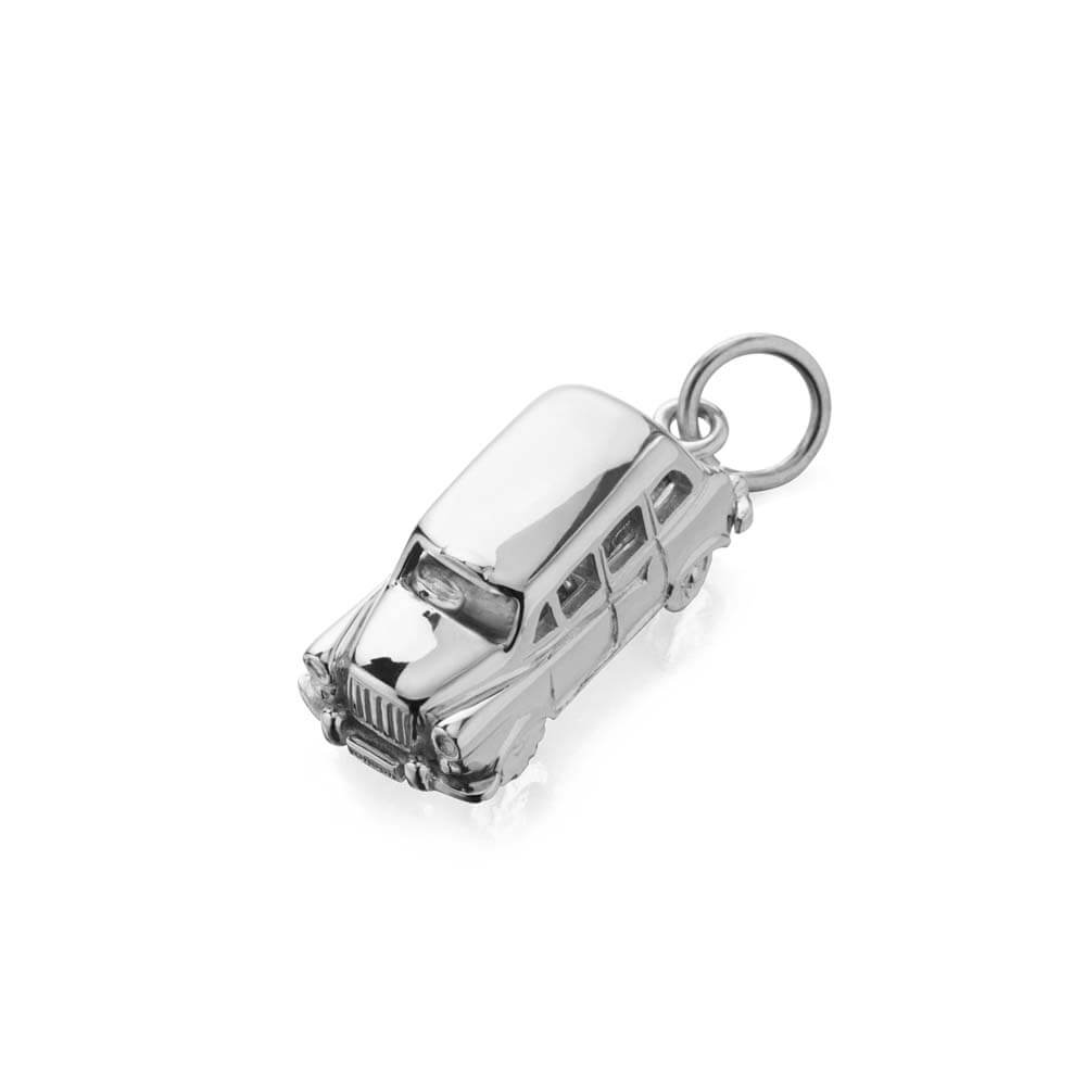 Silver London Taxi Charm - JET SET CANDY