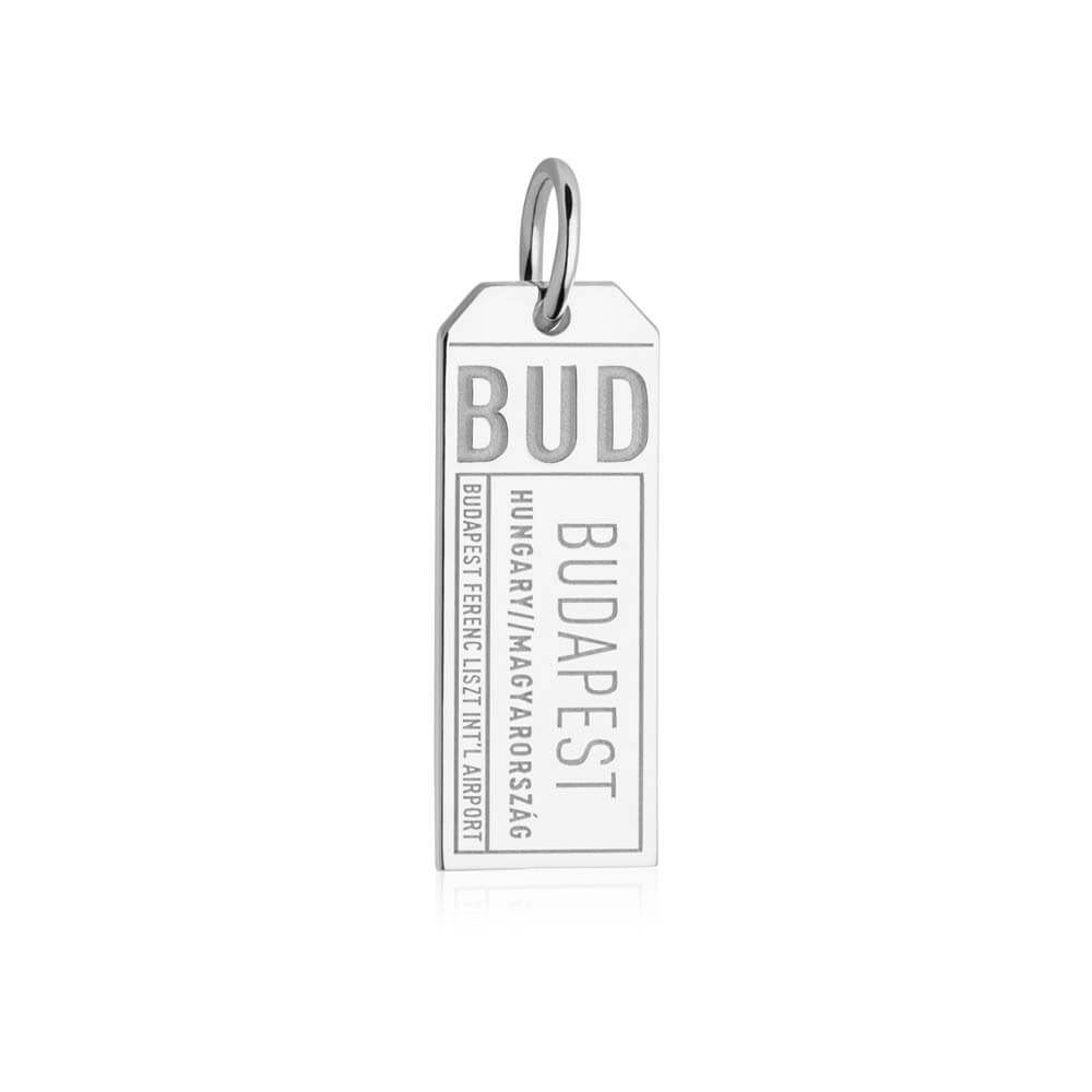 Silver Hungary Charm, BUD Budapest Luggage Tag (SHIPS JUNE) - JET SET CANDY