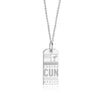 Sterling Silver Mexico Charm, CUN Cancun Luggage Tag - JET SET CANDY