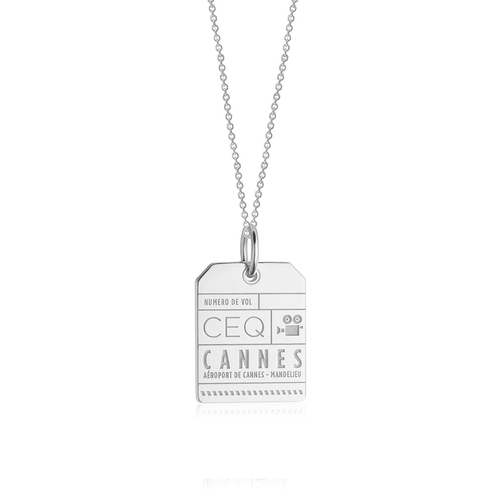 Silver France Charm, CEQ Cannes Luggage Tag - JET SET CANDY
