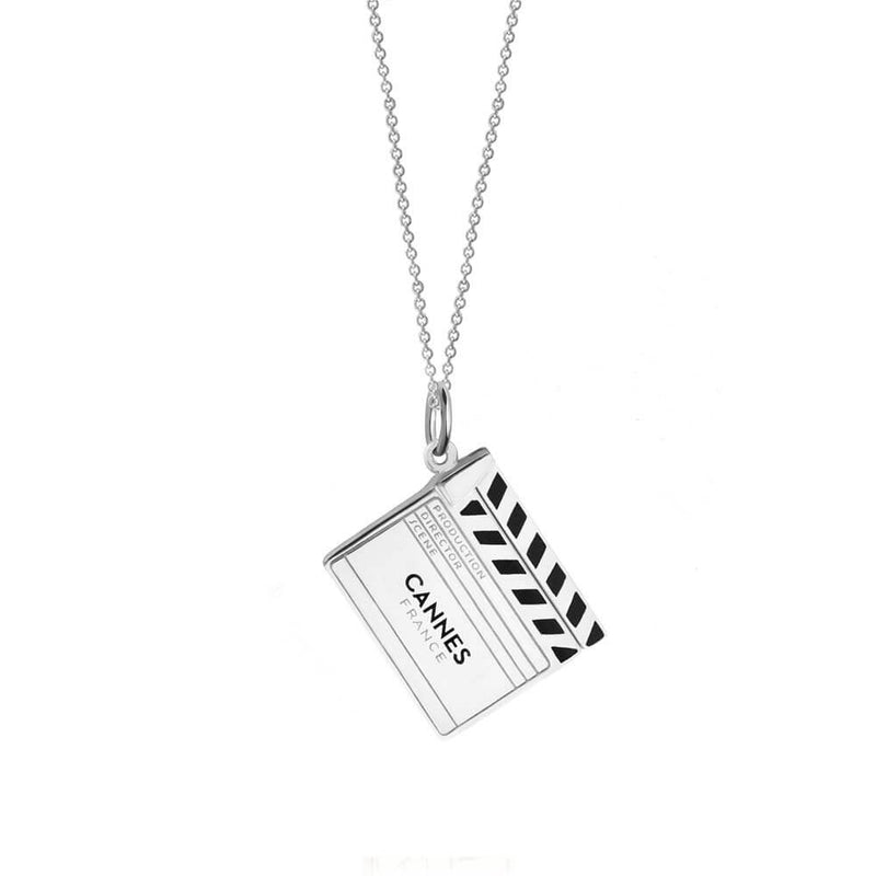 Silver Cannes Clapboard Charm - JET SET CANDY