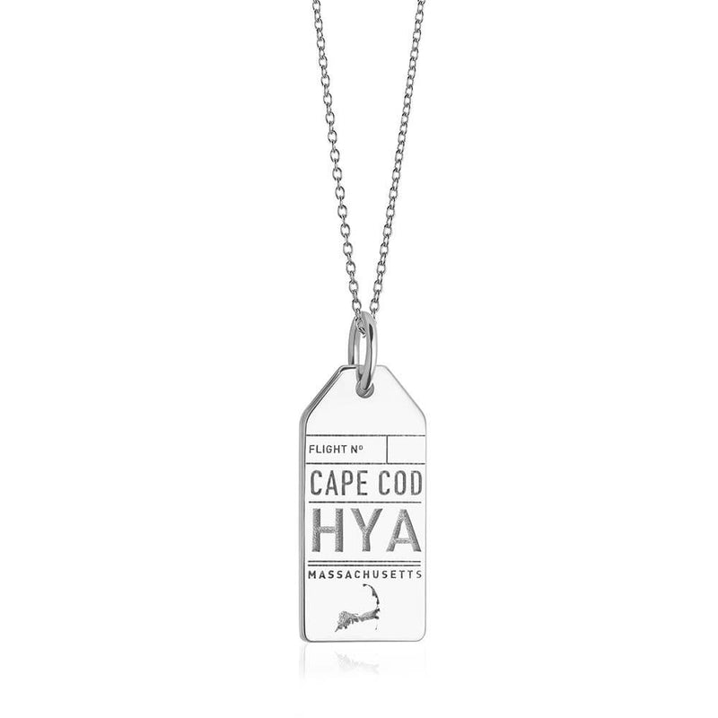 Silver Cape Cod Charm, HYA Luggage Tag - JET SET CANDY