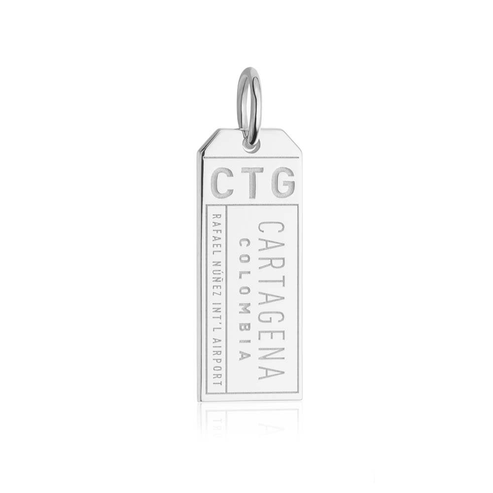 Silver Travel Charm, CTG Cartagena Luggage Tag (SHIPS JUNE) - JET SET CANDY