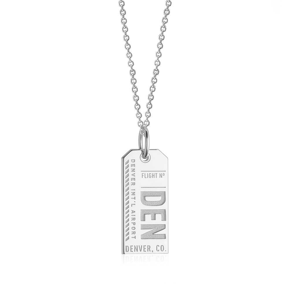 Silver USA Charm, DEN Denver, Colorado Luggage Tag (SHIPS JUNE) - JET SET CANDY