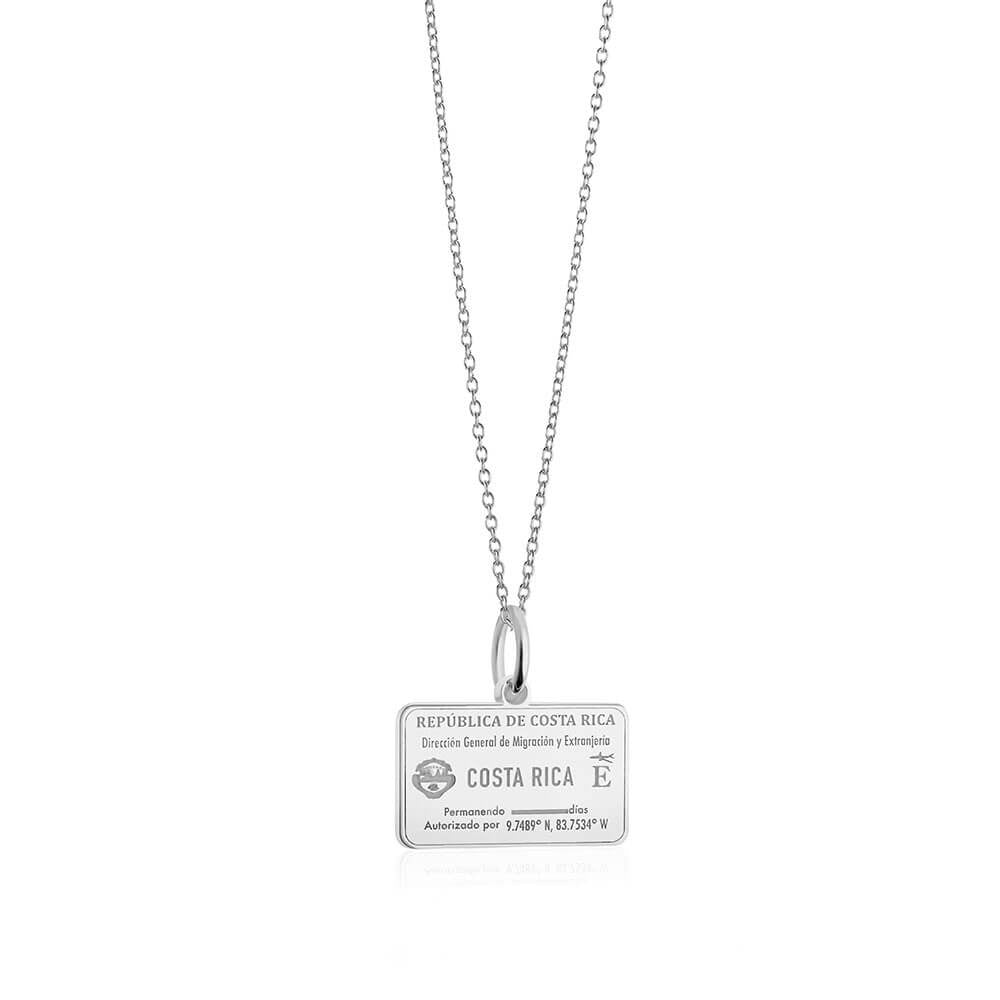 Sterling Silver Travel Charm, Costa Rica Passport Stamp