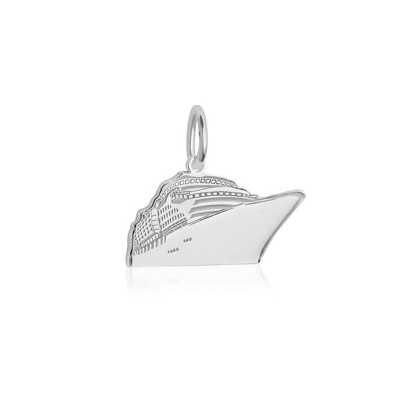 Sterling Silver Cruise Ship Charm - JET SET CANDY