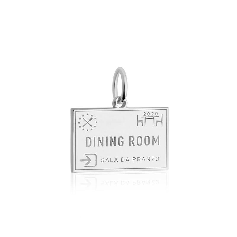 PRE ORDER: Sterling Silver Dining Room Passport Stamp Charm (SHIPS LATE FEB.)