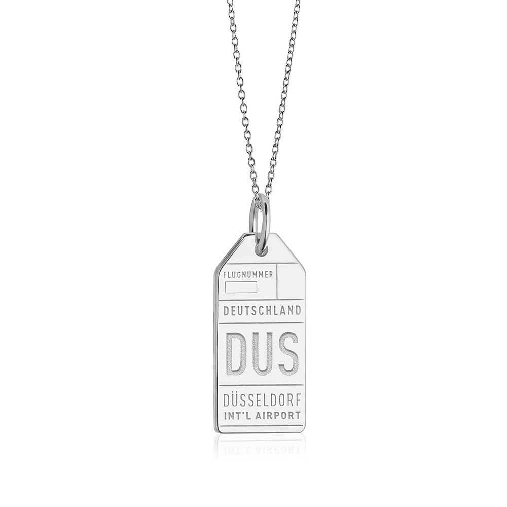 Silver Germany Charm, DUS Dusseldorf Luggage Tag - JET SET CANDY