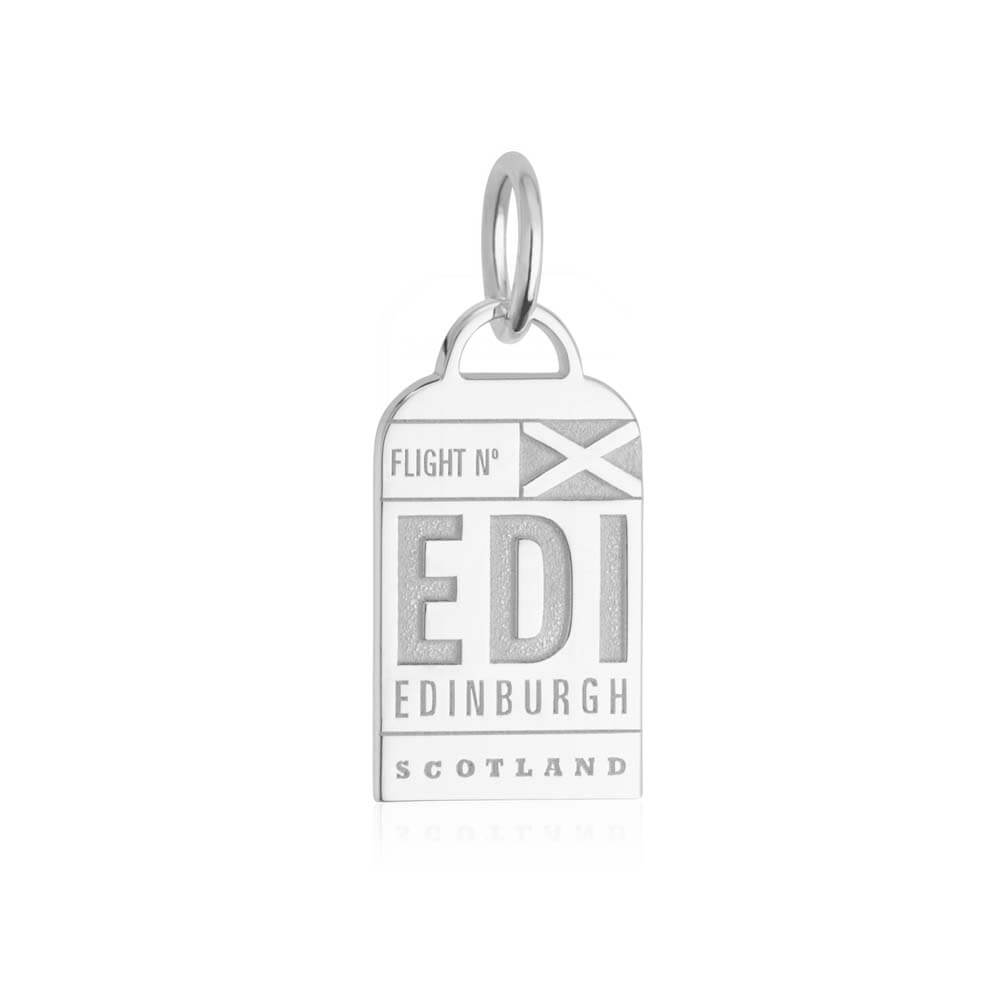 Silver Scotland Charm, EDI Edinburgh Luggage Tag (SHIPS JUNE) - JET SET CANDY