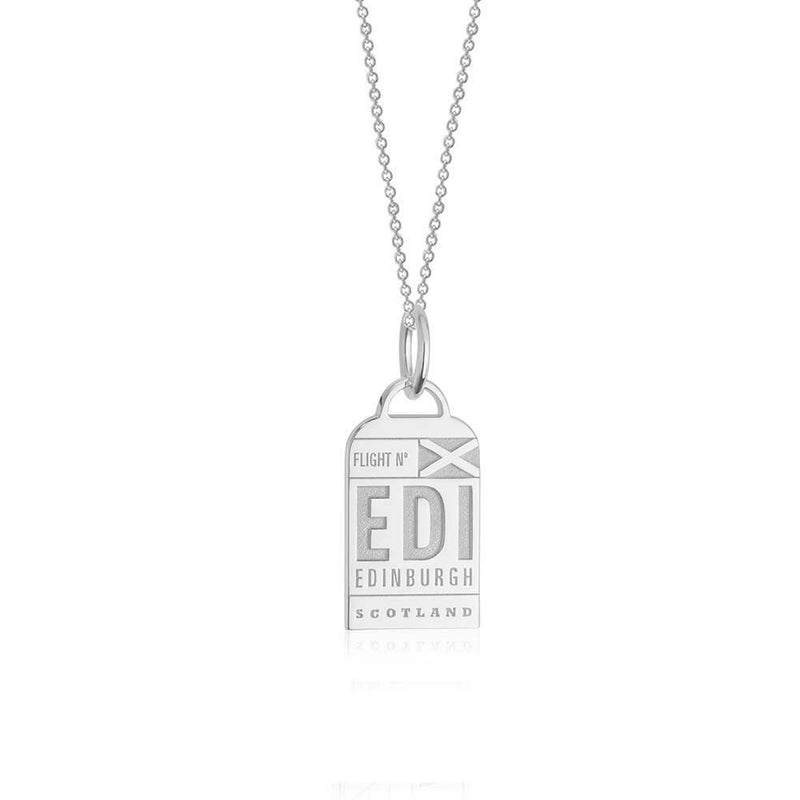 Silver Scotland Charm, EDI Edinburgh Luggage Tag (BACK ORDER-SHIPS LATE FEBRUARY) - JET SET CANDY