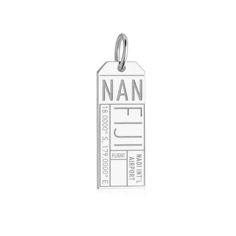 Silver Travel Charm, NAN Fiji Luggage Tag - JET SET CANDY