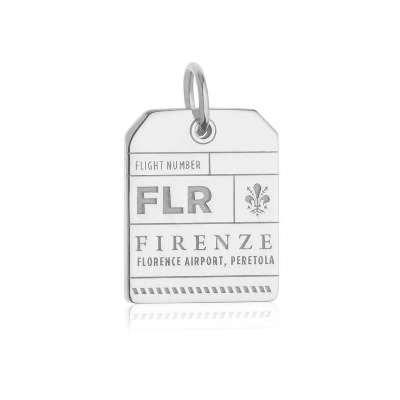 Silver Italy Charm, FLR Florence Luggage Tag - JET SET CANDY