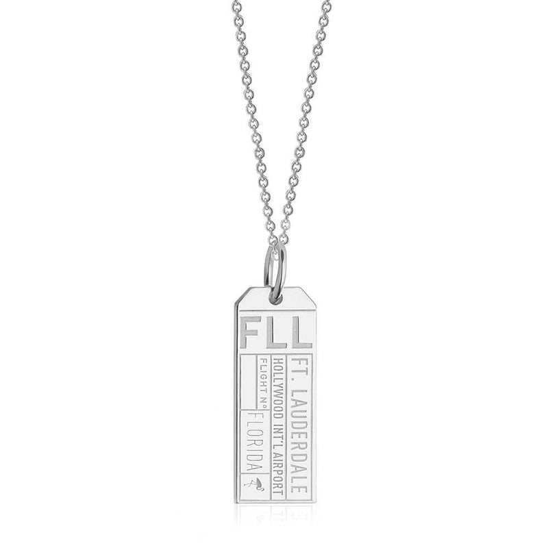 Silver USA Charm, FLL Fort Lauderdale Luggage Tag (BACK ORDER-SHIPS FEBRUARY) - JET SET CANDY