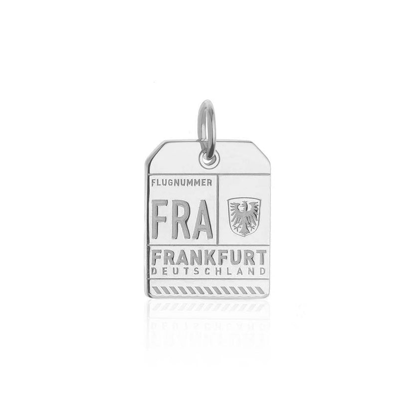Silver Germany Charm, FRA Frankfurt Luggage Tag - JET SET CANDY