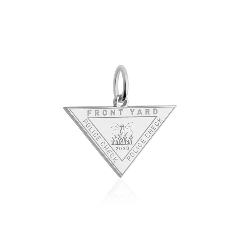 Sterling Silver Front Yard Passport Stamp Charm