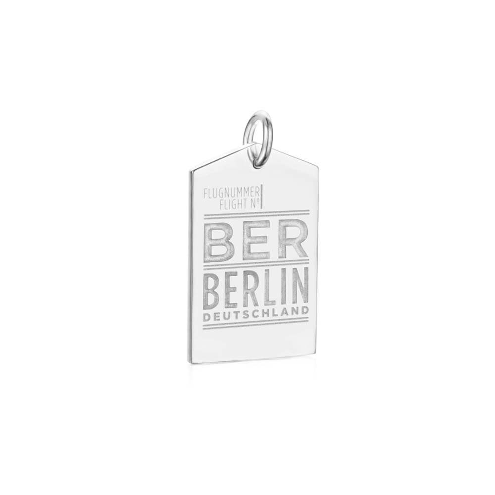 Silver Berlin Charm, BER Luggage Tag - JET SET CANDY