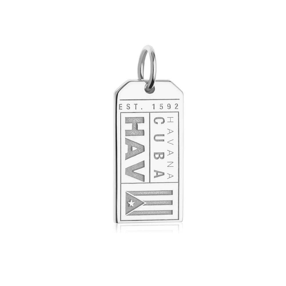 Silver Cuba Charm, HAV Havana Luggage Tag (SHIPS JUNE) - JET SET CANDY