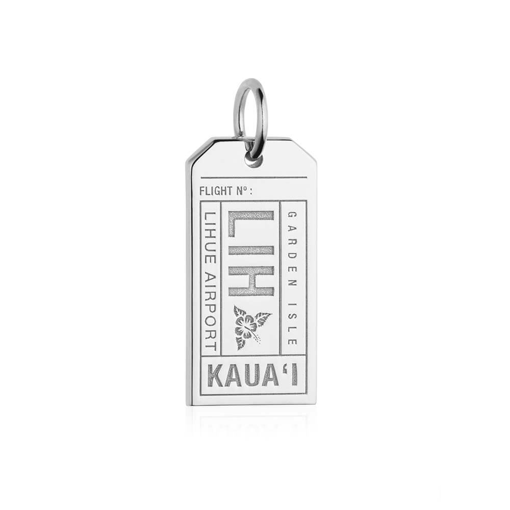 Silver Hawaii Charm, LIH Kauai Luggage Tag - JET SET CANDY