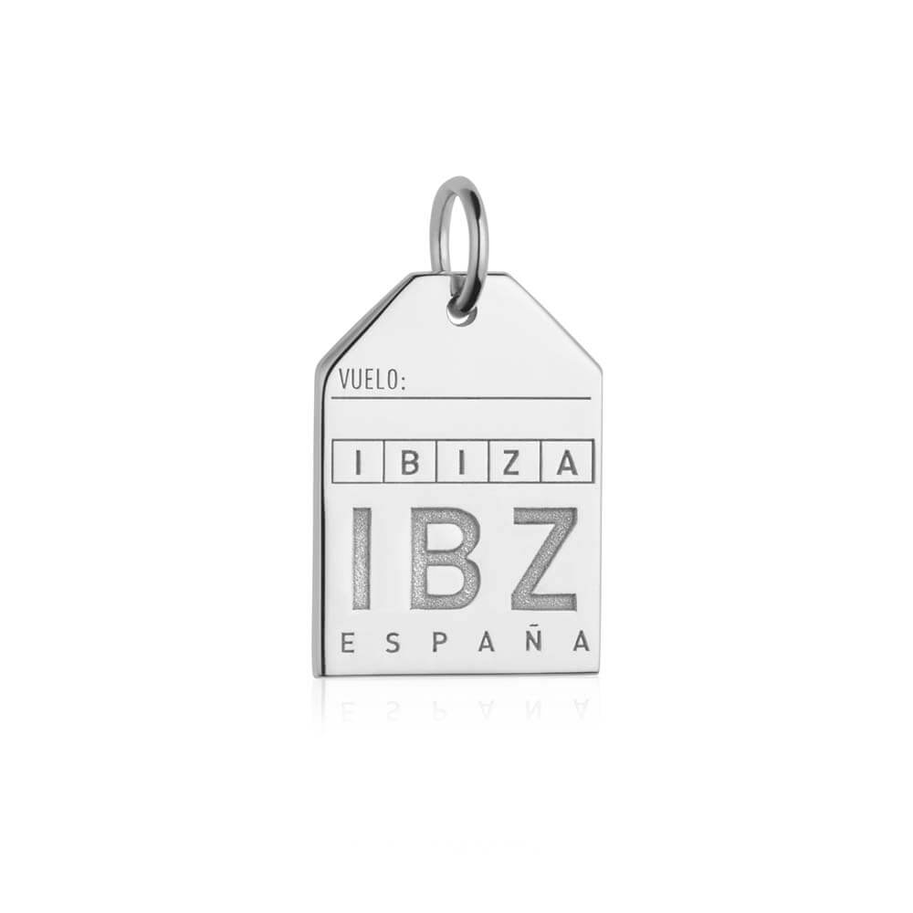 Silver Spain Charm, IBZ Ibiza Luggage Tag - JET SET CANDY