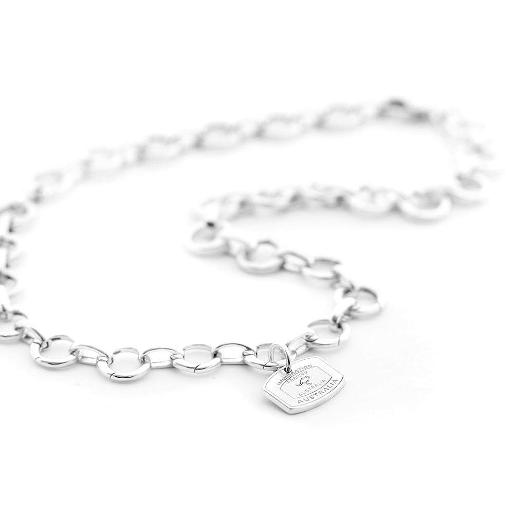 Sterling Silver Infinity Link Charm Necklace