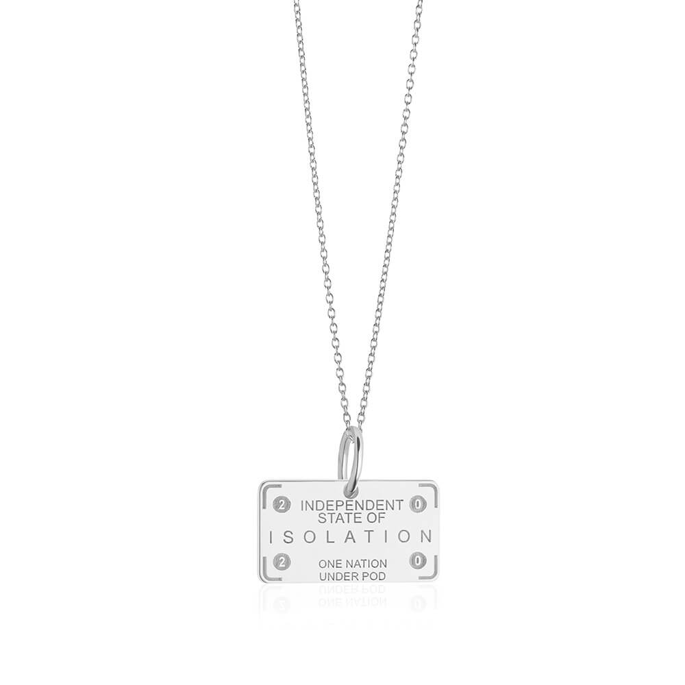 PRE ORDER: Sterling Silver Independent State of Isolation Passport Stamp Charm (SHIPS LATE FEB.)