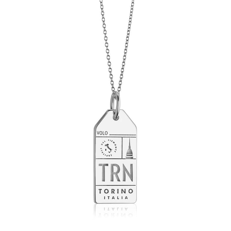 Silver Italy Charm, TRN Torino Luggage Tag - JET SET CANDY