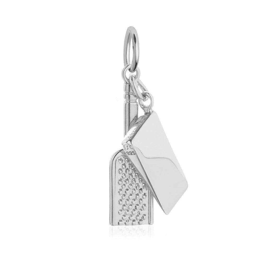 Silver Italy Charm, Parmesan Cheese & Grater