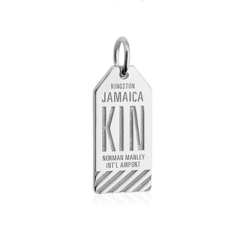 Silver Caribbean Charm, KIN Jamaica Luggage Tag - JET SET CANDY
