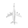 Silver Airplane Charm, Large - JET SET CANDY