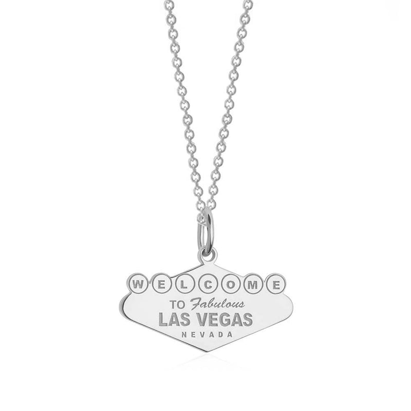 Silver Las Vegas Charm, Welcome to Vegas Sign (BACK ORDER-SHIPS LATE FEBRUARY) - JET SET CANDY