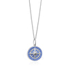 Large Silver Light Blue Enamel Compass Charm  (BACK ORDER-SHIPS LATE MARCH) - JET SET CANDY