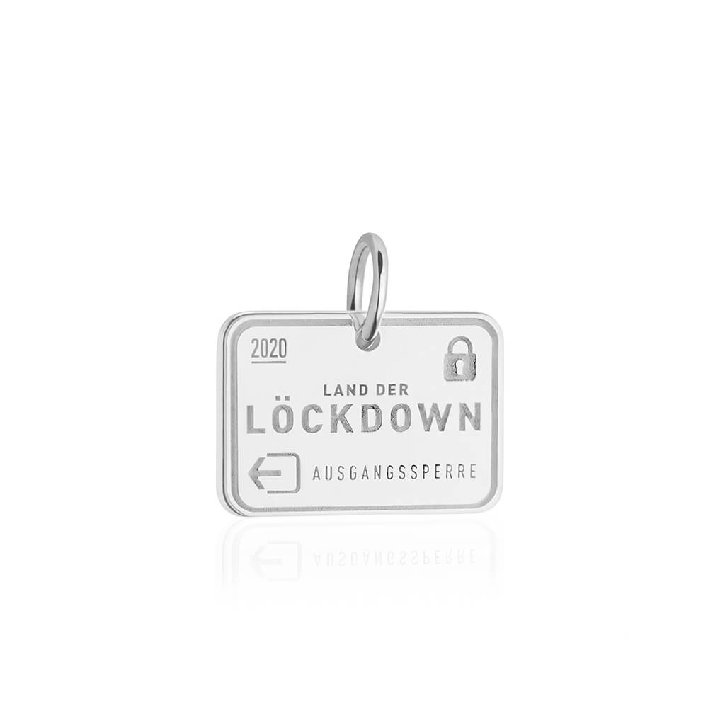 PRE ORDER: Sterling Silver Lockdown Passport Stamp Charm (SHIPS LATE FEB.)