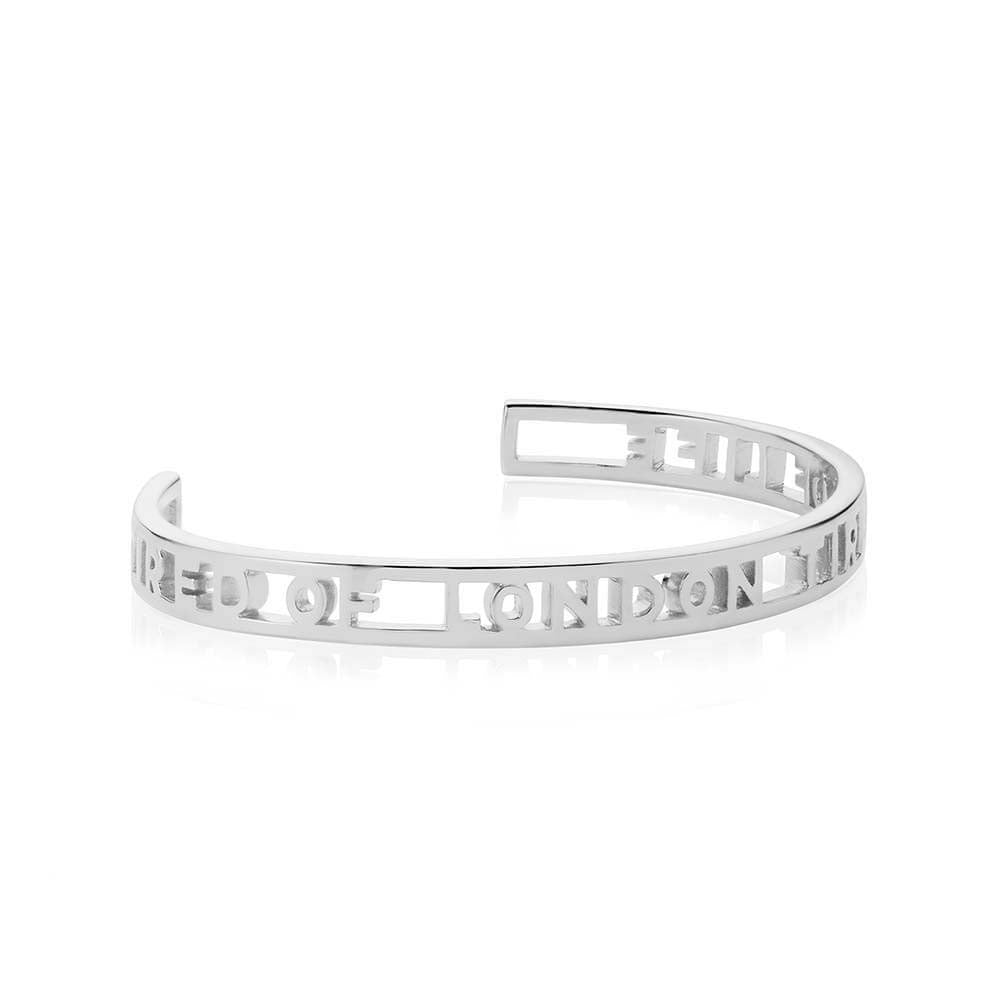 Silver London Cuff Bracelet - JET SET CANDY
