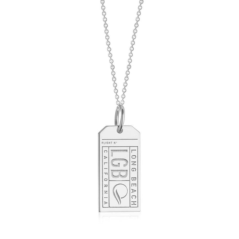 Silver USA Charm, LGB Long Beach Luggage Tag - JET SET CANDY