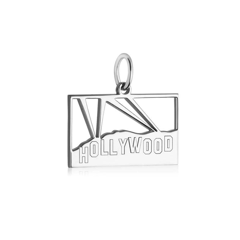 Silver LA Charm, Hollywood Hills Sign - JET SET CANDY