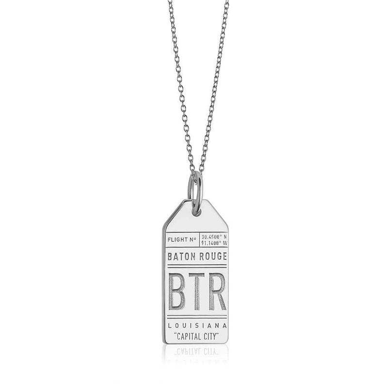 Silver USA Charm, BTR Baton Rouge Luggage Tag - JET SET CANDY