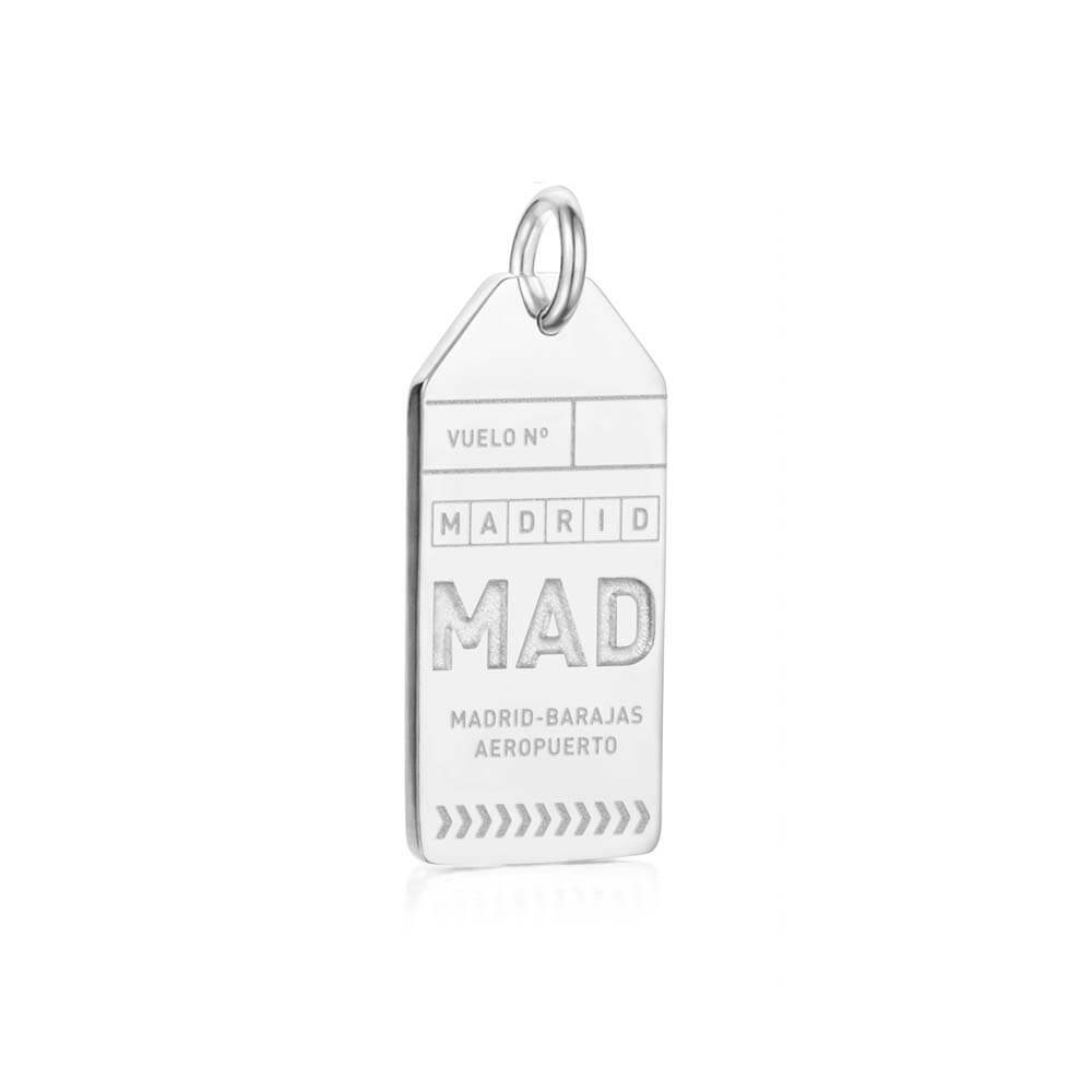 Silver Spain Charm, MAD Madrid Luggage Tag - JET SET CANDY